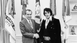 Richard Nixon og Elvis Presley sammen
